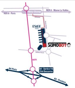 Plan d'accès ESIEE Paris